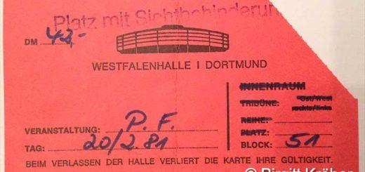 1981 Pink Floyd Dortmund - Ticket