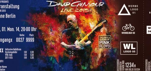 David Gilmour Oberhausen Fanticket