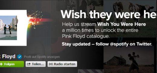Pink Floyd bei Spotify