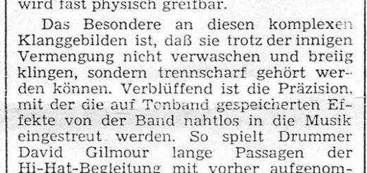 Pink Floyd 1970 Nürnberg