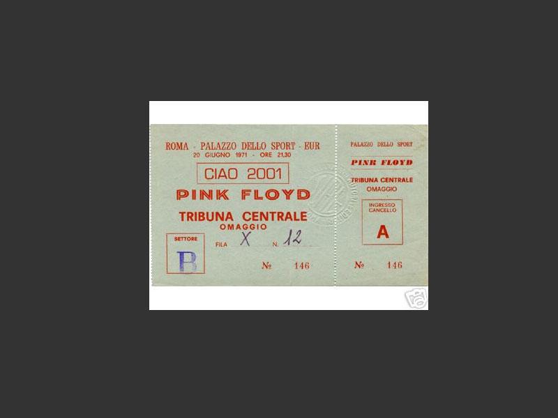 1971 Pink Floyd Rom Ticket