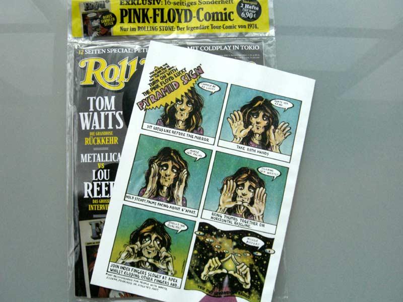 Pink Floyd 1974 Comic Tourprogramm