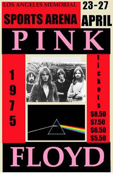 1975 Pink Floyd Los Angeles Poster