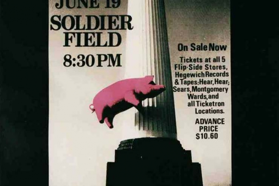 Pink Floyd 19.6.1977 Chicago Poster