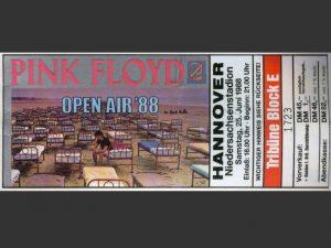 Pink Floyd 25.6.1988 Hannover Ticket