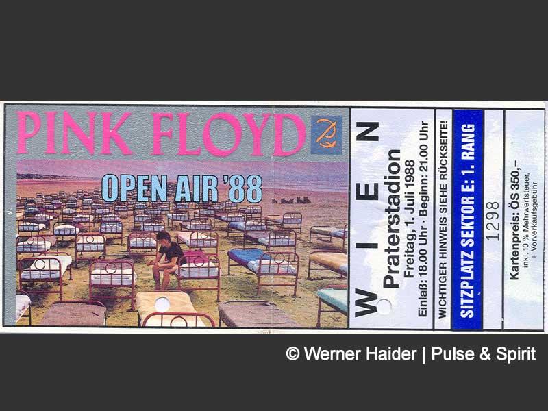 Pink Floyd 1.7.1988 Wien Ticket