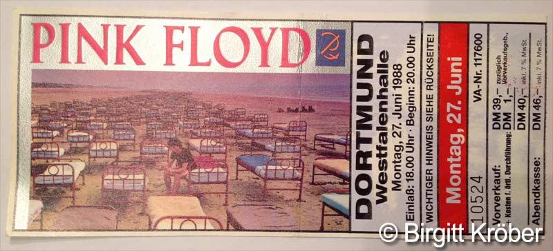 1988 Pink Floyd Dortmund Ticket