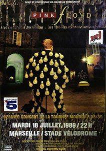 1989 Pink Floyd Marseille Poster