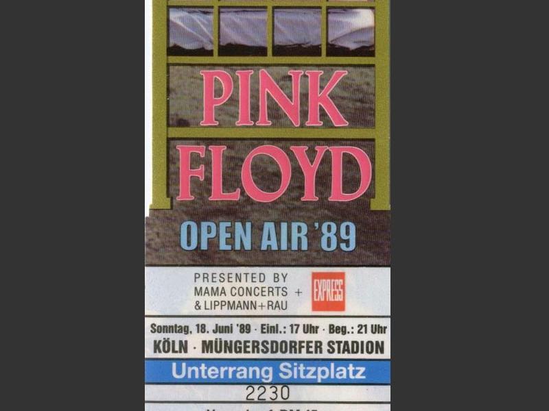 1989 Pink Floyd Köln Ticket