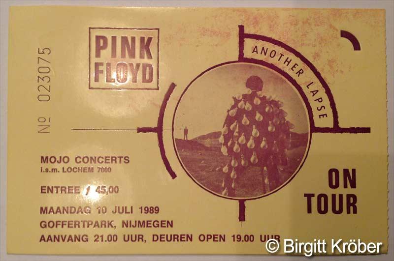 1989 Pink Floyd Nijmegen Ticket