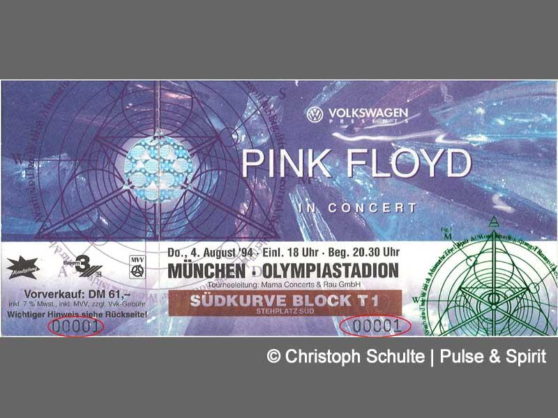 Pink Floyd 1994 Munich Ticket