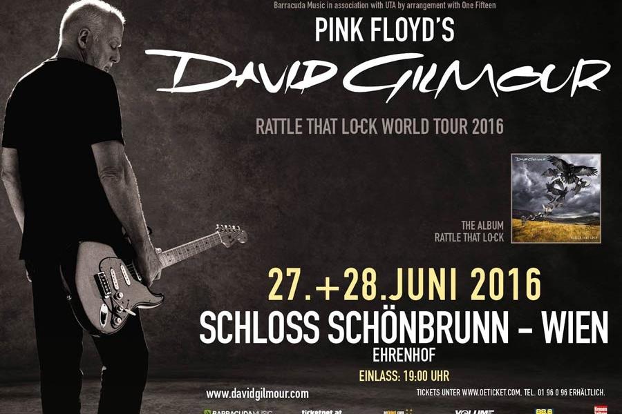 David Gilmour 2016 Wien Poster