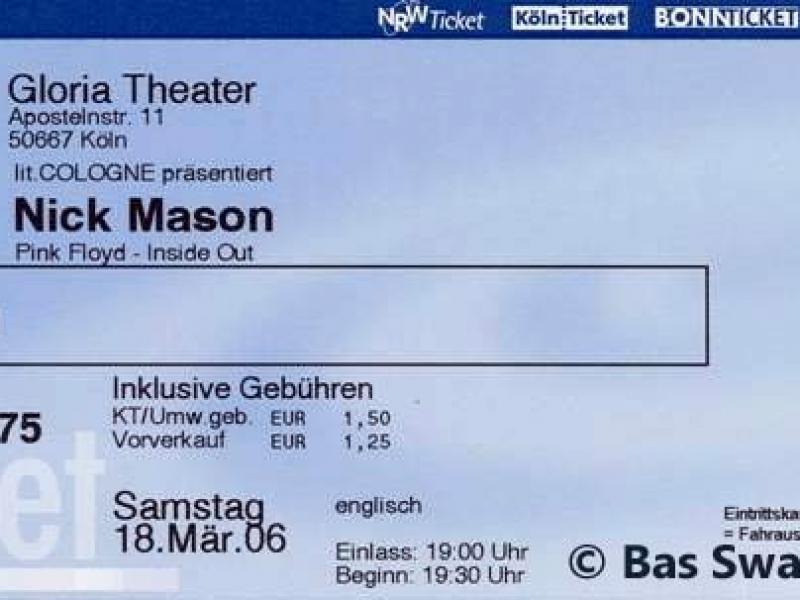 Nick Mason 18.3.2006 Köln