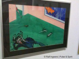 """Gerald Scarfe 4.10.2009 """"Tear Down The Wall"""" Ausstellung in Halle"""
