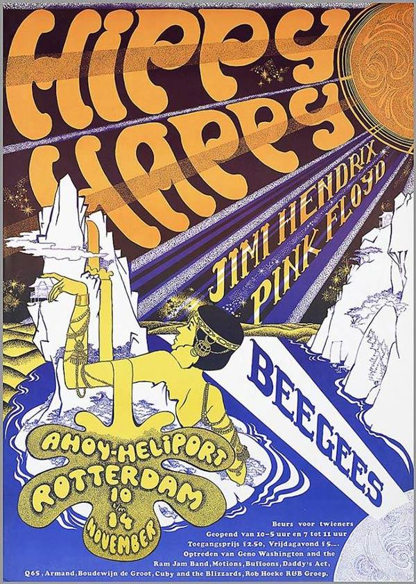 Pink Floyd 1967 Jimi Hendrix Poster