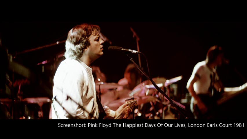 "Pink Floyd 1981 London Earls Court, ""Happiest Days"""
