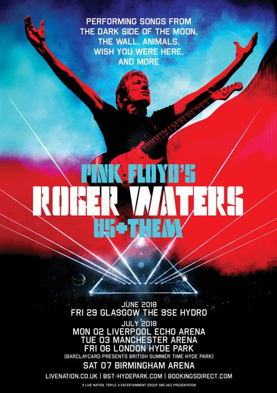 Roger Waters 2018 UK Tour-Poster