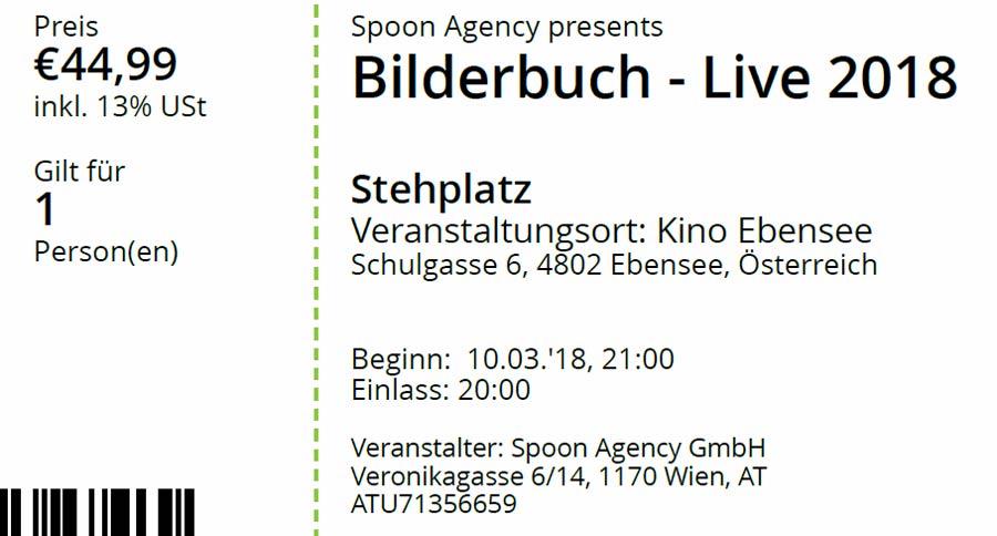 Bilderbuch 10.3.2018 Ebensee Kino
