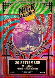 Nick Mason Mailand 2018 Poster