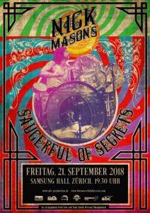 Nick Mason 2018 Zürich Poster
