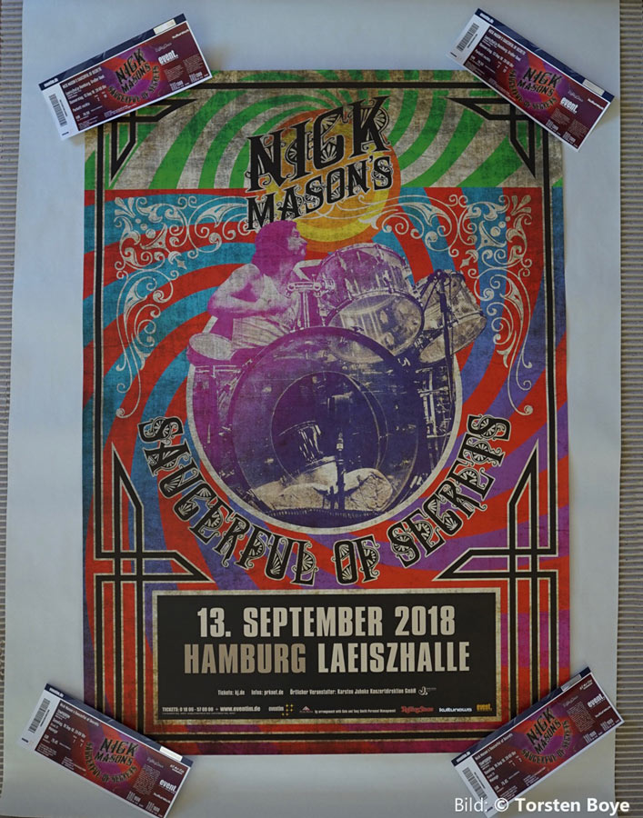 Nick Mason 13.9.2018 Hamburg, Poster