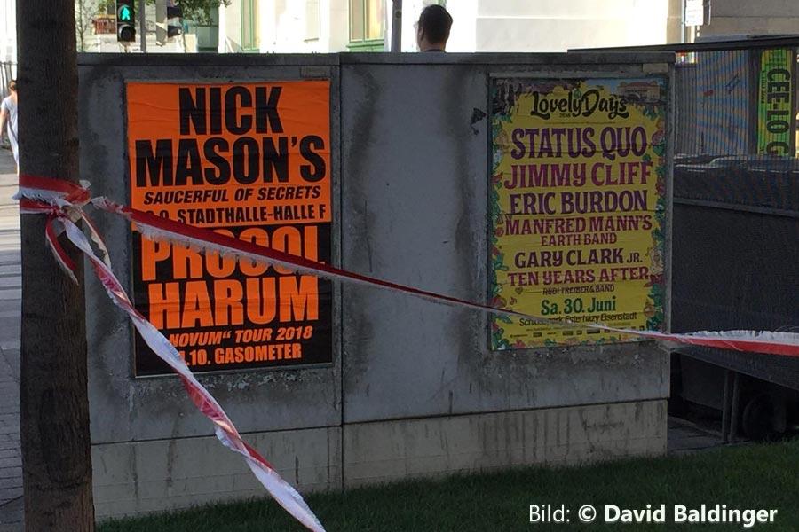 Nick Mason 19.9.2018 Wien Poster