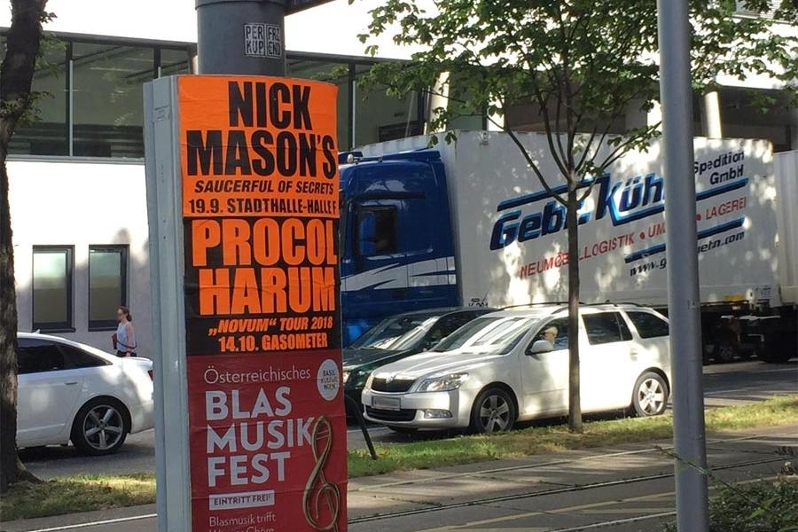 Poster: Nick Mason 19.9.2018 Wien Stadthalle