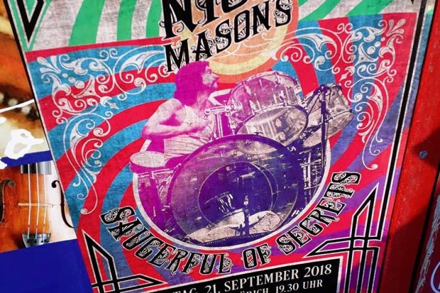 Nick Mason 21.9.2018 Zürich Poster