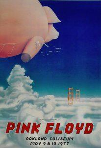 Pink Floyd 1977 Oakland Poster