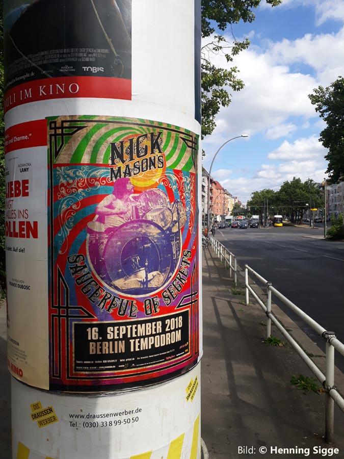 Nick Mason 2018 Berlin-Poster