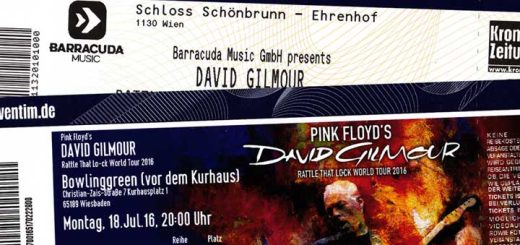 David Gilmour 2015 Tickets