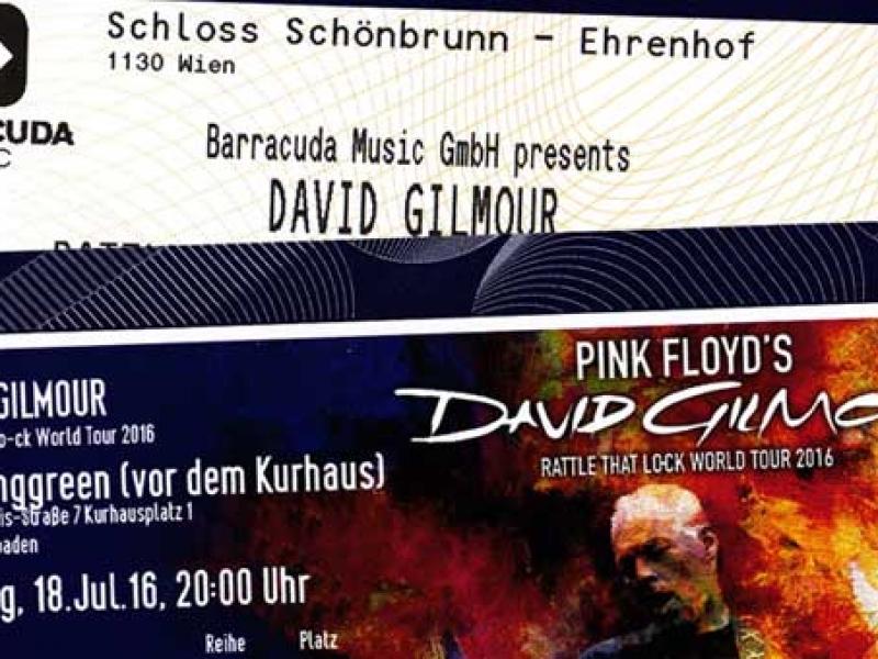 David Gilmour Tickets 2016