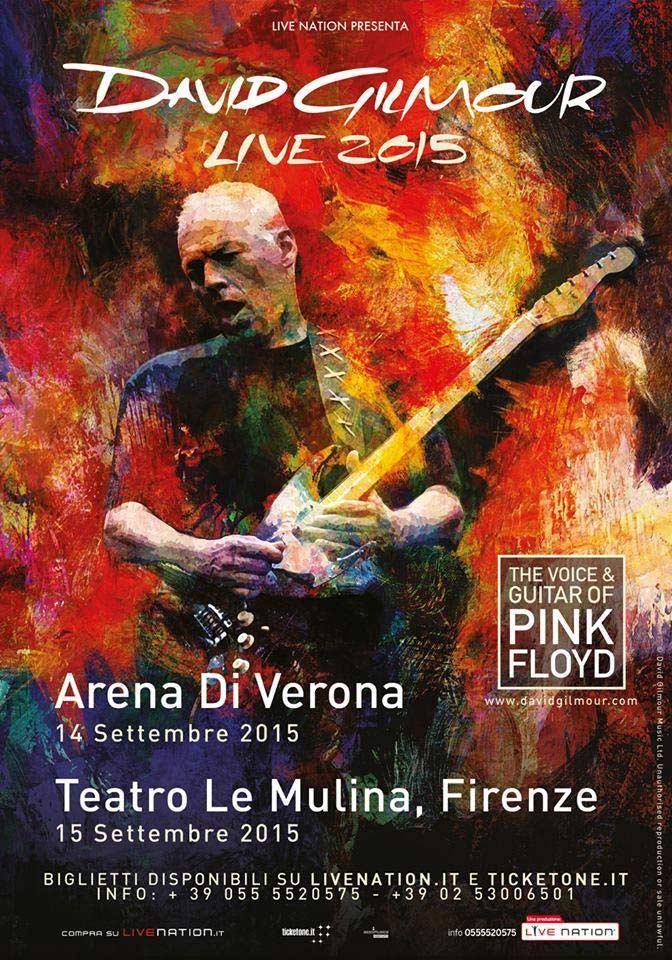 David Gilmour 15.9.2015 Florenz