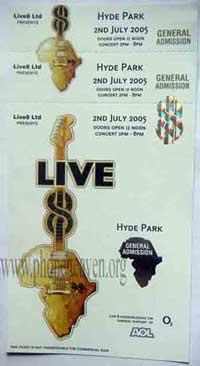 Pink Floyd Live 8 Ticket