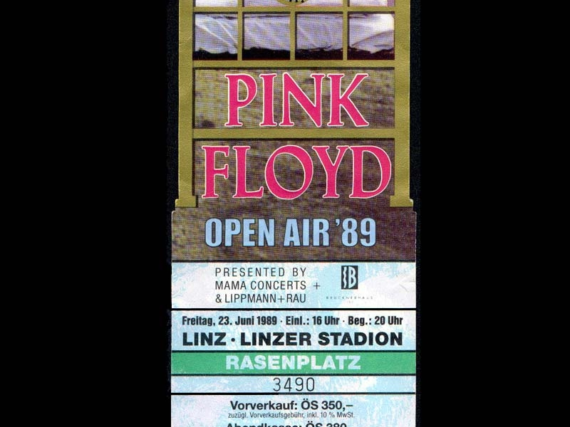 Pink Floyd 23.6.1989 Linz Ticket