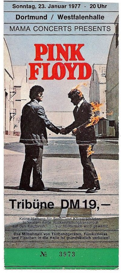 Pink Floyd 1977 Dortmund Ticket