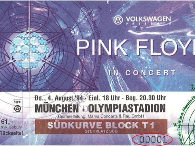 Pink Floyd 1994 München Ticket