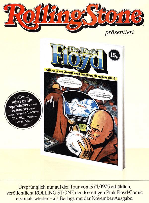 Pink Floyd 1974/75 Comic Tourprogramm