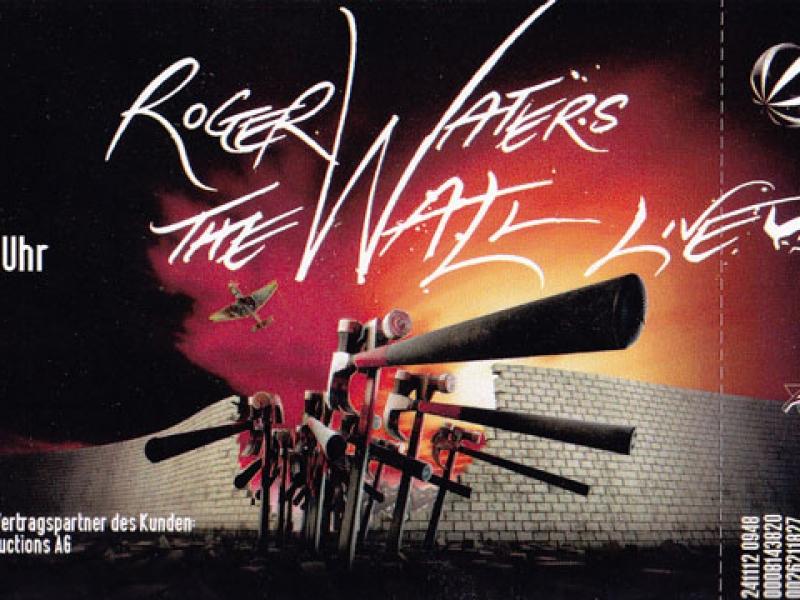 Roger Waters The Wall Fanticket Zürich 2013